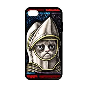 SUUER Rubber Silicone Custom Grumpy Cat Designer Personalized Custom Plastic Rubber Tpu CASE for iPhone 5 5s Durable Case Cover