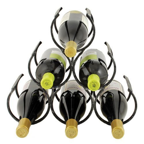 Country Home Wine Shrine by Twine – 6 Bottle Free Standing Metal Wine Rack by Twine (Image #1)