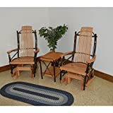 A & L Furniture Co. Hickory Glider Rockers and End Table Set