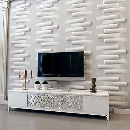 Art3d Eco Plastic 3D Wall Art Wall Panel 1 Box 12 Tiles 3 Sq m