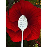 Friendship Gift It Takes A Long Time to Grow An Old Friend Hand Stamped Spoon Gardener Gift
