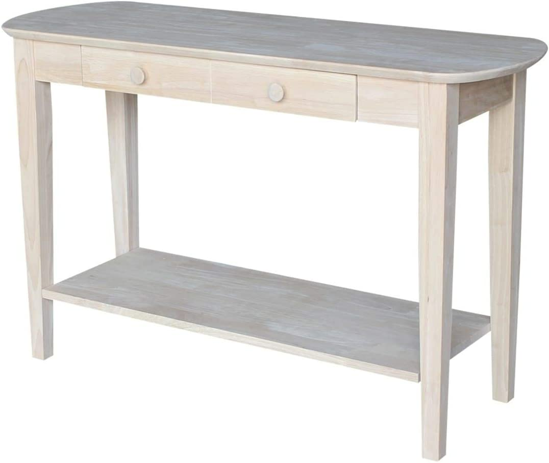 International Concepts Phillips Oval Sofa Table, Unfinished