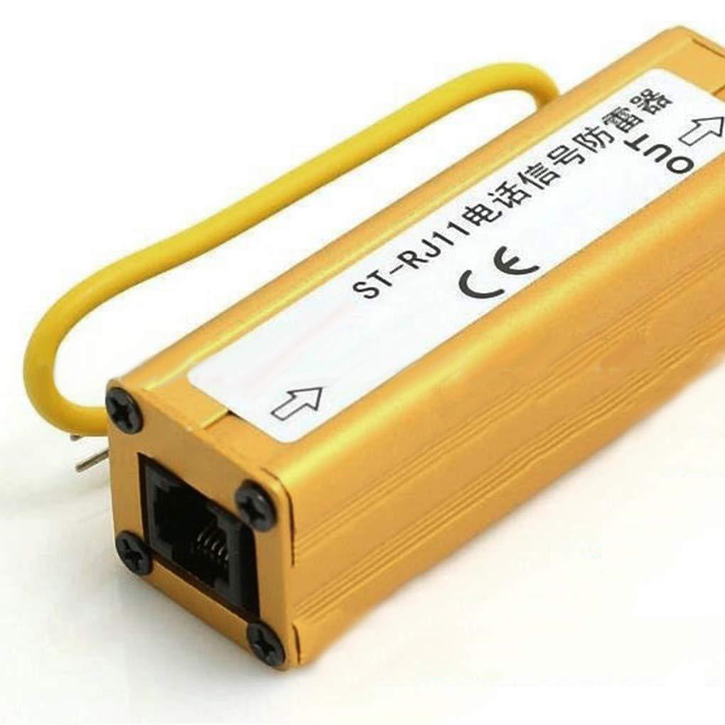 Lorsoul Tel/éfono Fax RJ11 RJ11 Protecci/ón contra sobretensiones Protector del Trueno Protecci/ón contra sobretensiones pararrayos del Dispositivo RJ11