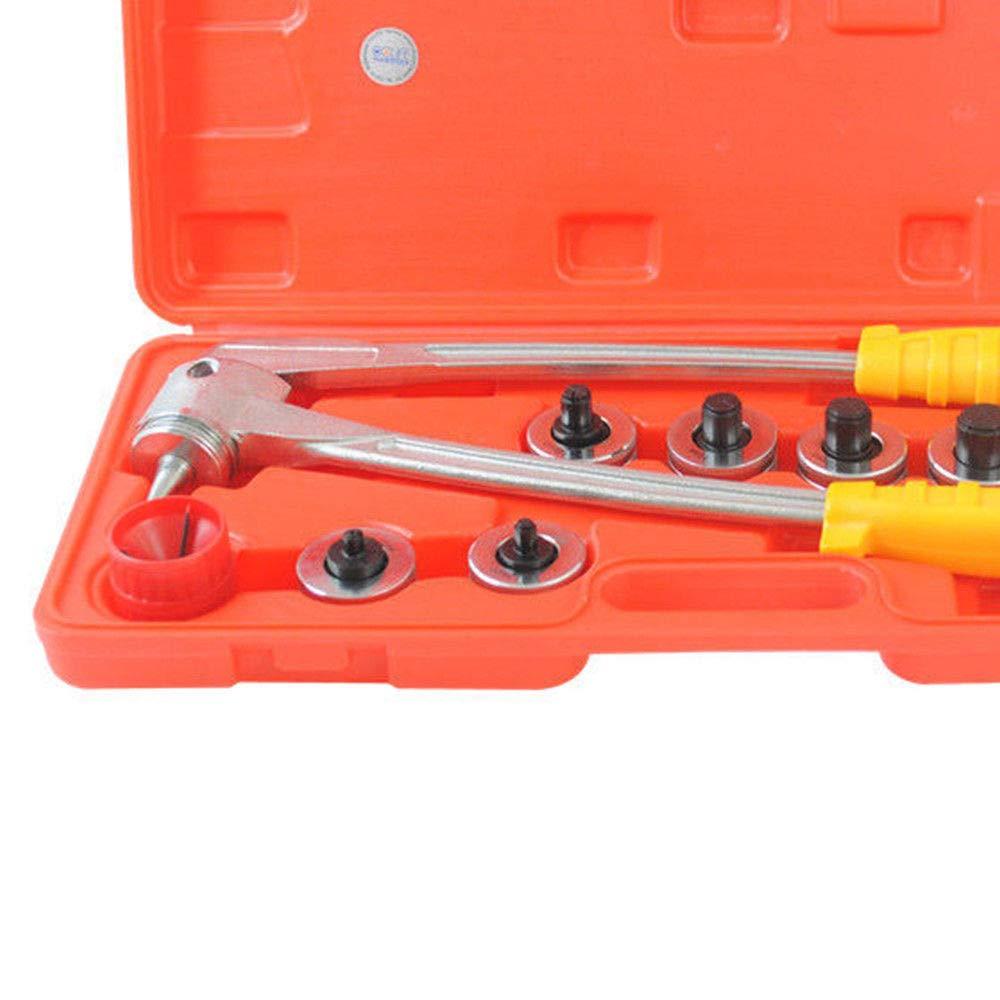 YIYIBY Rohraufweiter Satz inkl.7 Aufweitk/öpfe 10-28 mm Aufweitzange Expander-Set Manuelle Rohr Rohrexpander