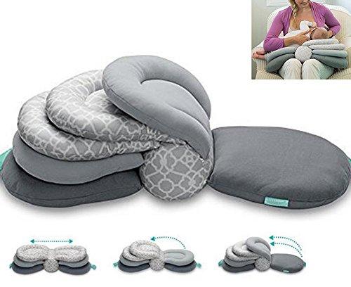 Maternity Nursing Pillows for Breastfeeding,Adjustable Height,Gray