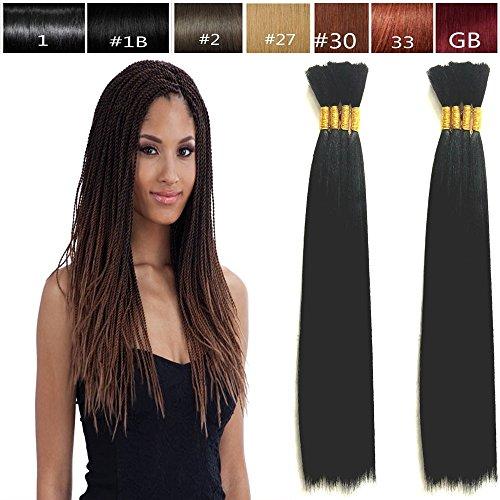 (Hot Selling Yaki Bulk Braiding Hair, Human Hair Quality, Braids Hair Extensions for Twists, US SELLER! Length 18