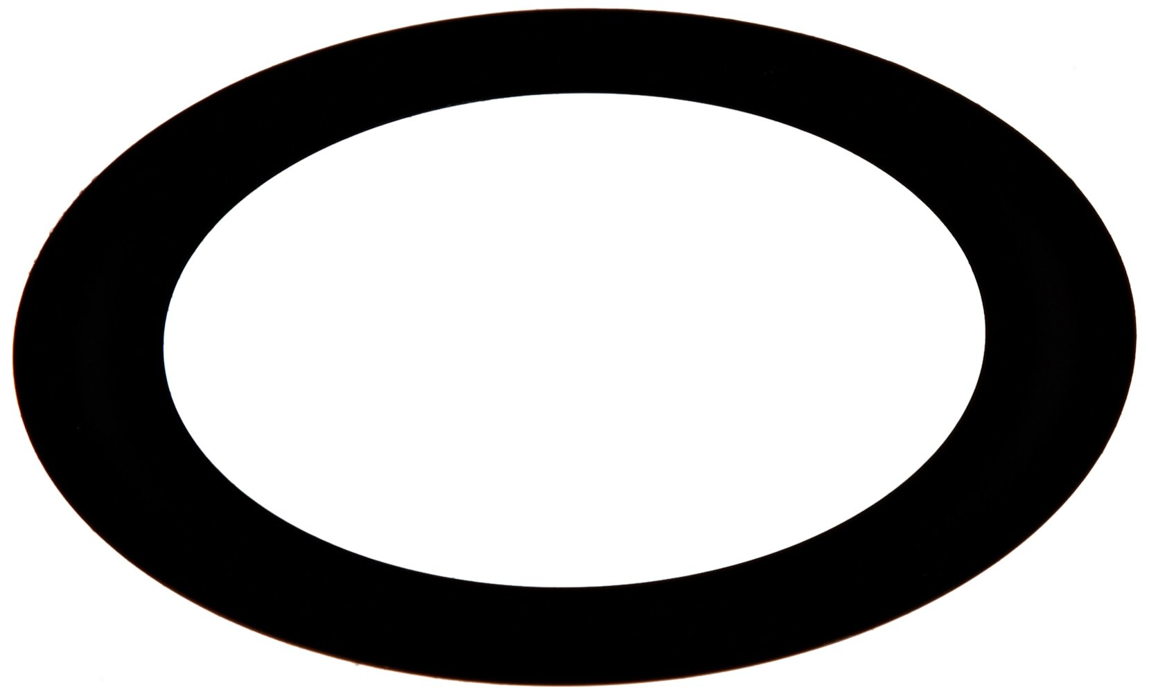 PVC (Polyvinyl Chloride) Round Shim, Black, 0.0125'' Thickness, 1-3/4'' ID, 2-3/4'' OD (Pack of 10) by Small Parts