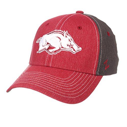 - Zephyr NCAA Arkansas Razorbacks Men's Dusk Hat, Medium/Large, Team Color/Dark Grey