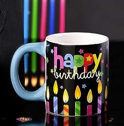 Happy Birthday Candles Ceramic Stoneware 12 Ounce Mug