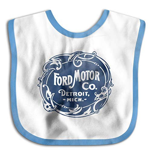 - Ford Motor Company Detroit Travel Comfortable Baby Boys Girls Waterproof Bibs Toddlers Skin Wrap Bib Blue