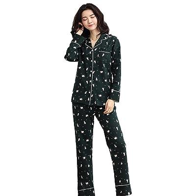 cbdef9da429 mujer dulce algodón conjunto de pijamas señoras 2 piezas suave casual ropa  de dormir