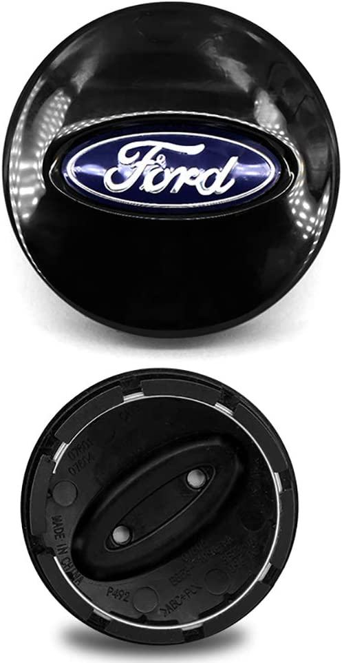 4PCS CENTER WHEEL HUB CAPS EMBLEM COVER BB53-1A096-RA FITS FORD 2007-2015 MATTE BLACK