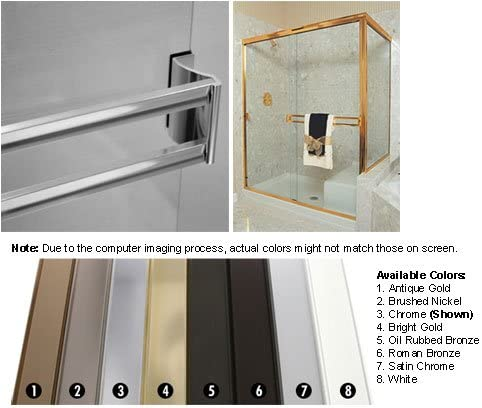 Bright Sliding Frameless Shower Double product image