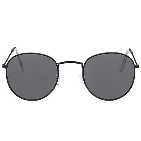 Pingenaneer Small Round Retro Sunglasses Metal Frame UV Protection ...
