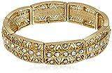 1928 Jewelry Gold-Tone Crystal Stretch Bracelet