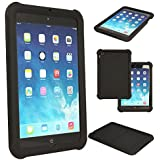 TECHGEAR® Bumper Case for Apple iPad Mini (Mini 3, Mini 2 & Mini) Rugged Heavy Duty Anti-Shock Rubber Protective Case with Added Corner & Edge Protection and Easy Grip Design + Screen Protector [BLACK] - Kids & School Friendly Case