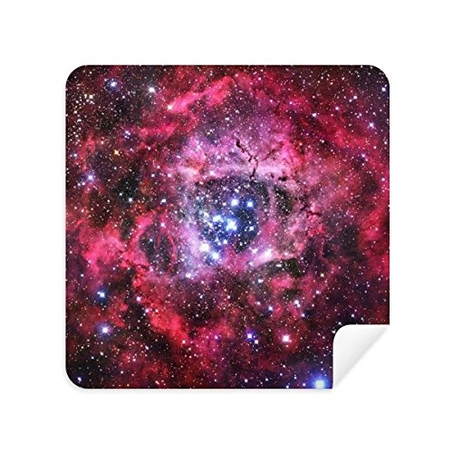 Rose Red Monoceros Rosette Nebula Pattern Glasses Cleaning Cloth Phone Screen Cleaner Suede Fabric 2pcs
