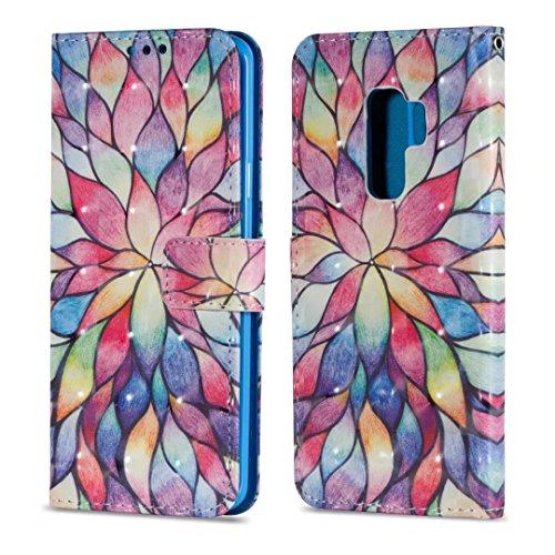 Samsung Galaxy S9Plus móvil, cowx Teléfono Móvil Piel Flip Case Carcasa para Samsung Galaxy S9Plus Funda Silicona Cover (s9p20)