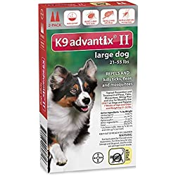 Advantix II Flea and Tick for Large Dogs 21-55 lbs 2 Month