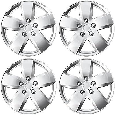 Tapacubos para Chevrolet (Pack de 4) – Cubiertas de Rueda 16 inch, fijación a presión, plateado