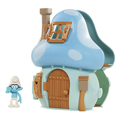 - Smurfs The Lost Village Mushroom House Playset with Brainy Smurf Figure