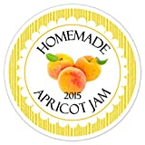36 Kitchen Labels, Canning Labels, Apricot Jam Canning stickers, Homemade Kitchen Stickers