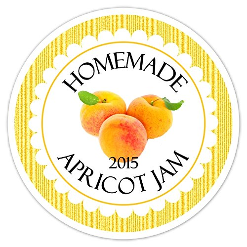 36 Kitchen Labels, Canning Labels, Apricot Jam Canning stickers, Homemade Kitchen Stickers by Delight Design