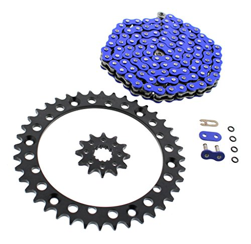 2001-2005 fits Yamaha YFM660 660 Raptor Blue O-Ring Chain & Black Sprockets 12/40 92L (Raptor Chain 660 2003 And)