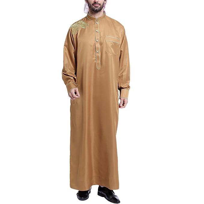 e4148ad2cadb TAAMBAB Musulmano Uomo Vestiti- Islamico Manica Lunga Casual Robe Dubai Arabo  Medio Orienteern Saudi Festa