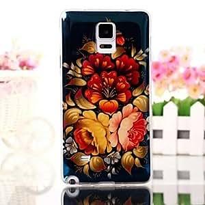 YULIN Elegant Design Pattern TPU Soft Cover for Samsung Note4