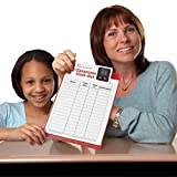 Really Good Stuff Classroom Clock-Out Clipboard