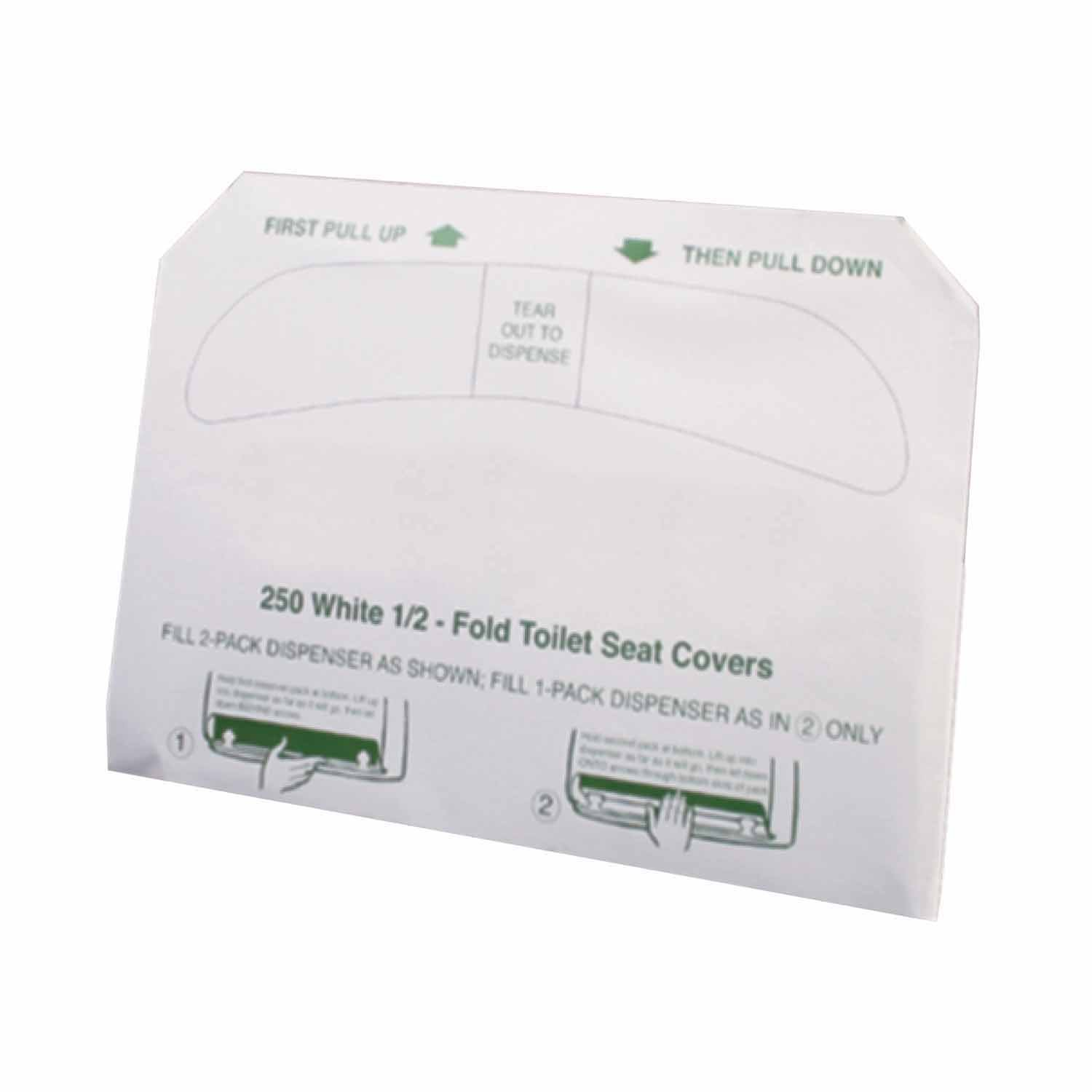 Excellante Half Fold Paper Toilet Seat Covers, Sold By Case (250 Sheet/Pack, 20 Pack/Case)
