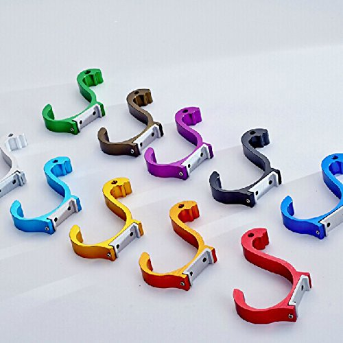 chic Space Aluminum Colored Swan Hook Decorative Hanger (Random: Color)