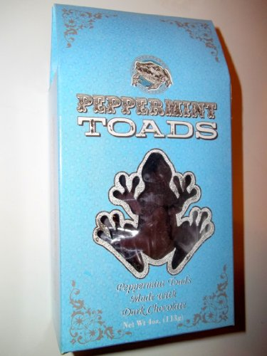 Universal Studios Wizarding World of Harry Potter Park Honeydukes Emporium Dark Chocolate Peppermint Toads Candy 4 Oz ()