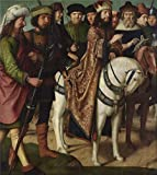 Beautiful Paint on Canvas no frame, no stretch ,Pilate's Dispute with the High Priest by Gerard David, between 1480-1485, is for Home Decoration, or Wall Art Decoration, Home Decor. There are fiber canvas, cotton canvas, or linen canvas. And it is al...
