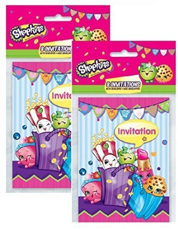 BirthdayExpress Shopkins Invitations Pack (16) for $<!--$10.49-->