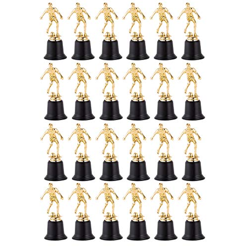24 Pack Soccer Ball Trophy Gold Award Sports Team Participation MVP Trophies Awards Recognition Coaches Kids Tournaments Competitions Sport Party Decorations 6.3 x 2.76 Inches Each