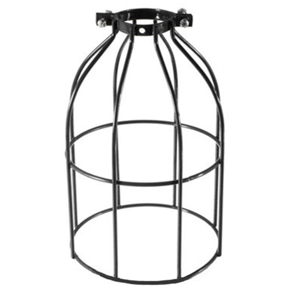 plafond Abat-jour en métal, Favolook géométrique vintage industriel en acier Noir Suspension Pince de protection pour ampoule E27Lampe de lumière Cage à oiseaux Unbekannt
