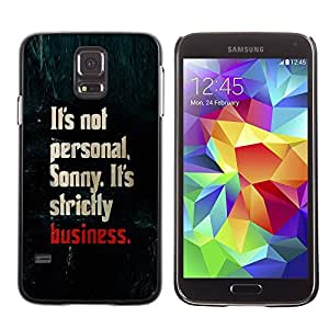 Paccase / SLIM PC / Aliminium Casa Carcasa Funda Case Cover para - personal business strictly shark text - Samsung Galaxy S5 SM-G900