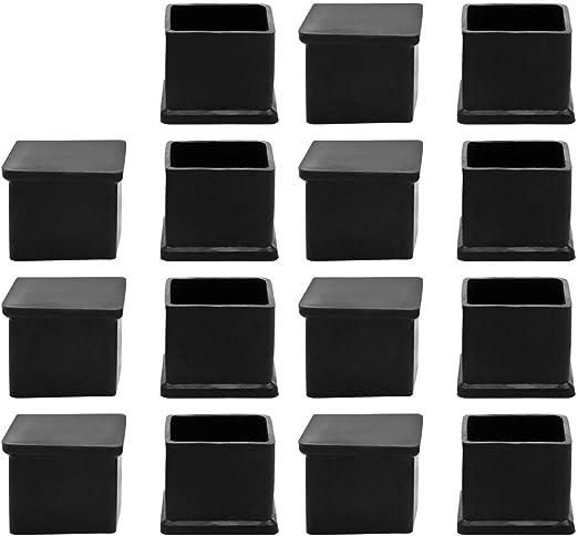 10 Stk schwarze 30mm x 30mm quadratische Moebelfuss Gummiabdeckung DE
