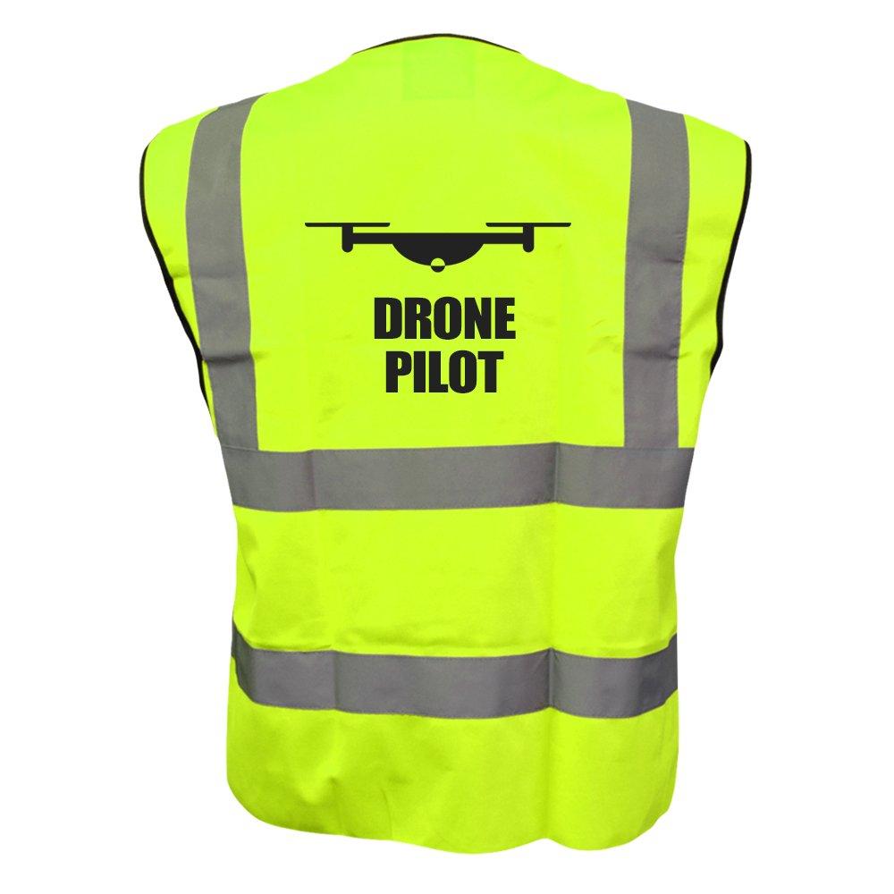 Drone Pilot Hi Vis Hi Viz Drone Waistcoat Vest Jacket Reflective All Sizes