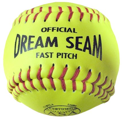 Worth ASA/NFHS 11 in. Dream Seam Fastpitch Softballs - 1 Dozen by Worth