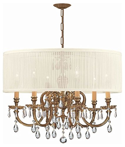 Chandeliers 6 Light with Olde Cast Brass 26 inch 360 Watts - World of Lighting ()