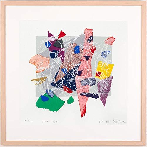 現代アート 絵画 抽象画 現代美術 シルクスクリーン 版画 島州一 「SP-C,D 131」 額付き   B07QPD7GKZ