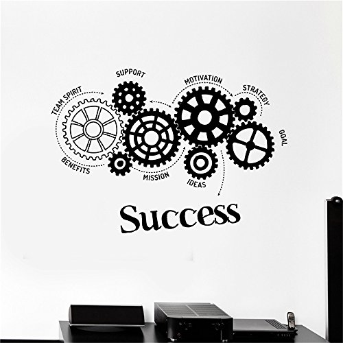 Vinyl Wall Decal Quote Stickers Home Decoration Wall Art Mural Team Spirit Support Benefits Mission Ideas Motivation Strategy Goal Success for Office