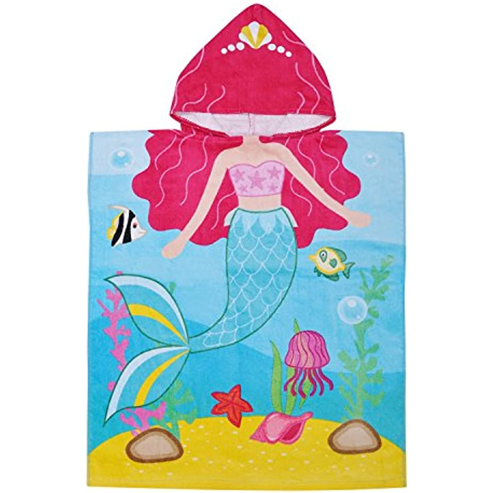 5a062785fe Details about Hooded Beach Towels Bath For 2 To 6 Years Girl,100% Cotton  Water Absorption Swim