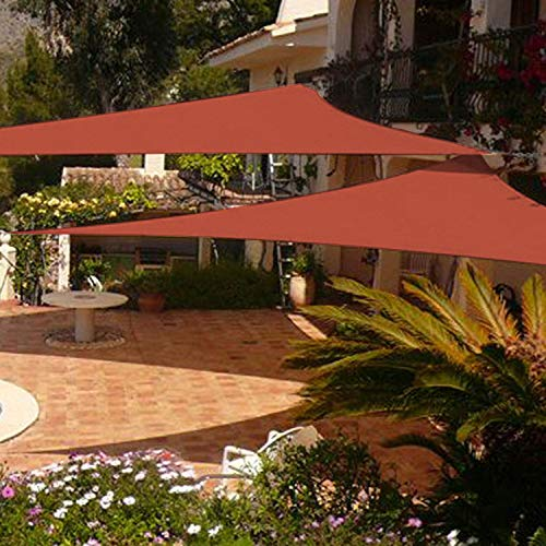 (Shade&Beyond 2 Pack 12'x12'x12' Sun Shade Sail Triangle Canopy Rust Red Outdoor UV Sunshade Sail for Patio Yard Backyard Garden Lawn Garden)