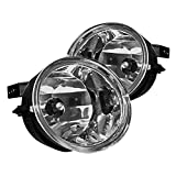 Nissan Off-Road Bumpers - Winjet Fog Lights Compatible With 2004-2010 Nissan Titan Armada | Polycarbonate Resin Clear Driving Running Foglight Foglamp Lamps LED Super Bright | 2004 2005 2006 2007 2008 2009 2010