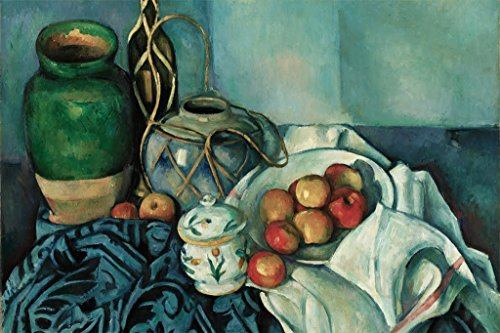ArtParisienne Still Life with Apples by Paul Cézanne Wall Decal, 36