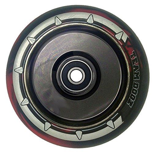 チームDogz 100 mm Hollow Core Stuntスクーターホイール – 星雲レインボー/ブラックレッド